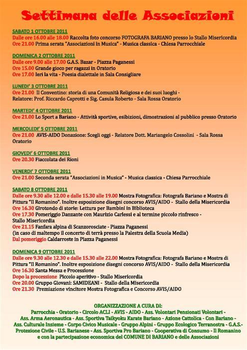 Settimana delle Associazioni di Bariano