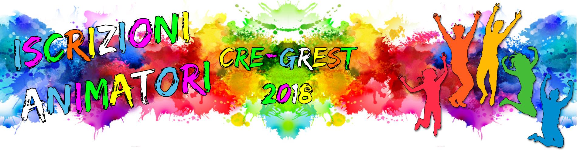 Iscrizioni Animatori Cre-Grest 2018
