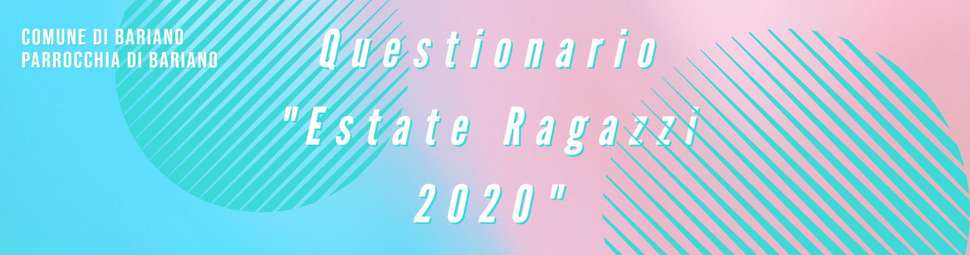 Estate Ragazzi 2020