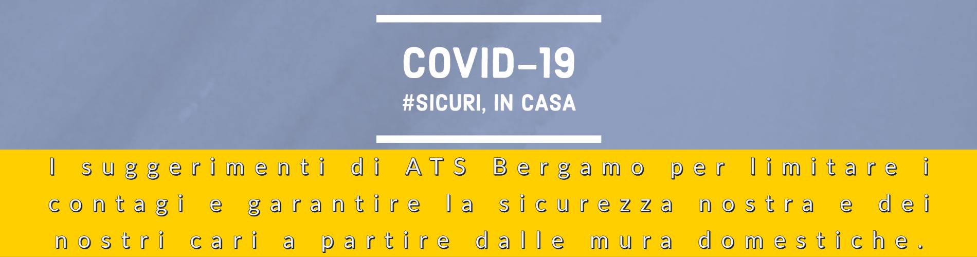 Covid-19 #Sicuri, in casa