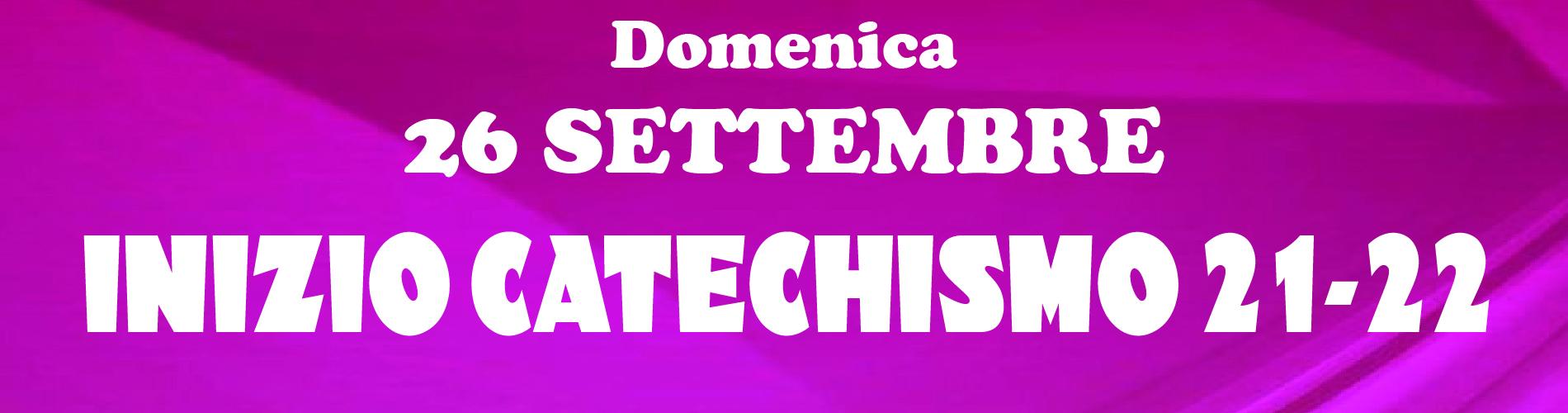 Apertura Anno Catechistico 2021/2022