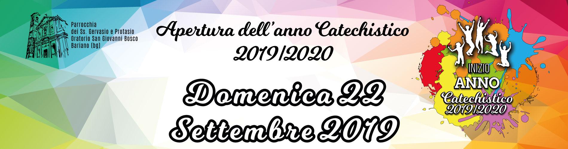 Apertura Anno Catechistico 2019/2020
